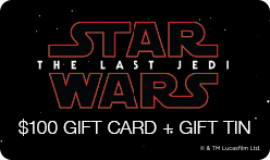 "$100 ""Star Wars: The Last Jedi"" Gift Card + Tin"