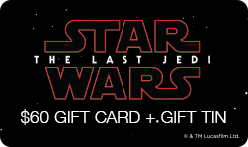 "$60 ""Star Wars: The Last Jedi"" Gift Card & Tin"