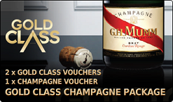 Gold Class Champagne Package