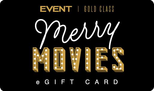 Event Christmas Gold Class eGift Card